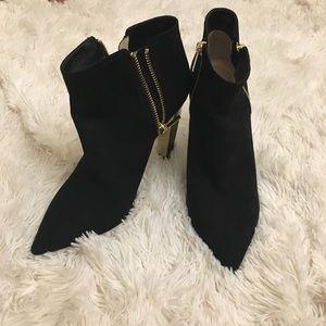 JIMMY CHOO black bootie  heels 39 8 9